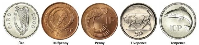Coin Cufflinks - Ireland (Decimal) coins