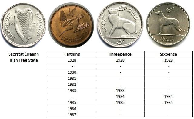 Coin Cufflinks - Irish Free State