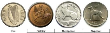 Coin Cufflinks (Pre-Decimal) coins