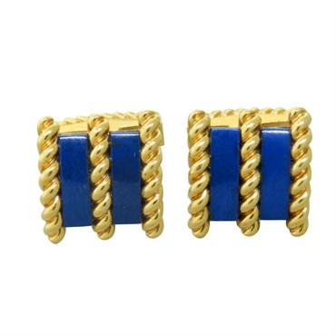 1960s Tiffany & Co. Gold Boxer Dog Cufflinks