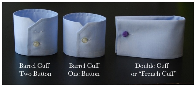 The other type of cuff is most commonly referred to as a French Cuff but also called a Double Cuff. This is the most formal type of shirt cuff